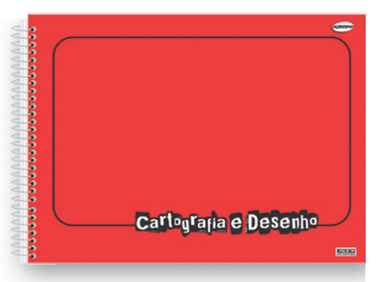 Caderno Desenho Espiral C.D. Vermelho, 60 Fls. Pct. C/ 5 Un. - São Domingos - 4728
