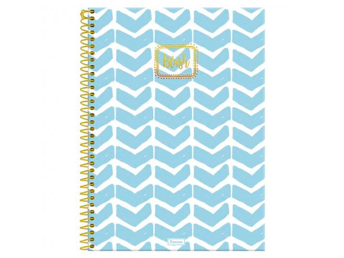 Caderno Espiral 10x1 Capa Dura Blush, 160 Fls. Pct. C/4 Unidades - Foroni