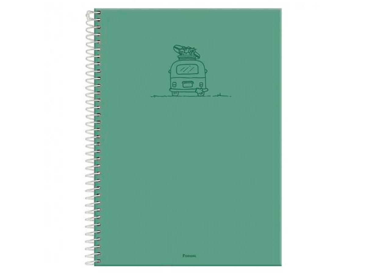 Caderno Espiral 10x1 Capa Dura Versatile, 200 Fls. Pct. C/4 Unidades - Foroni