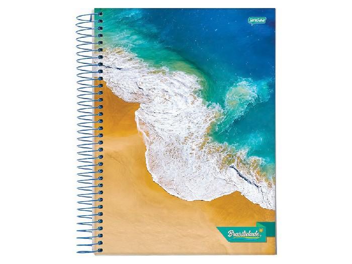 Caderno Espiral 10x1 Flexível Brasilidade 200 Fls. Pct C/ 5 Unidades - Jandaia