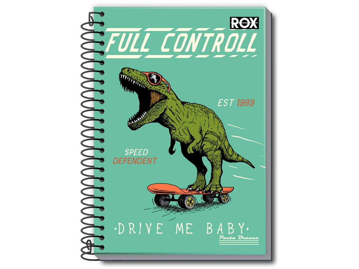 Caderno Espiral 10x1 Rox 200 Fls. Pct. C/ 3 Unidades - Pauta Branca