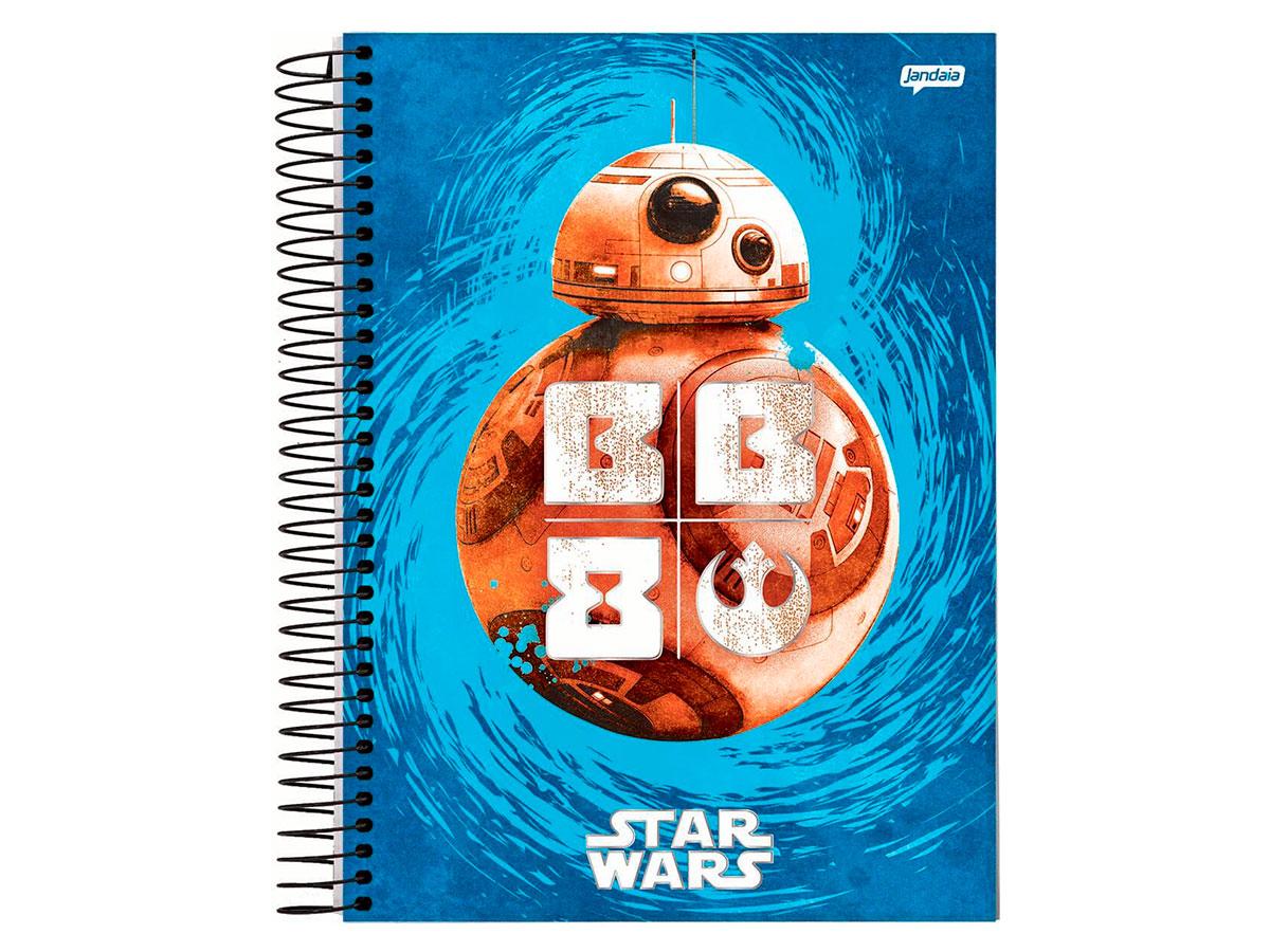 Caderno Espiral 10x1 Star Wars Filme 200 Fls. Pct. C/ 4 Unidades - Jandaia - 6157820