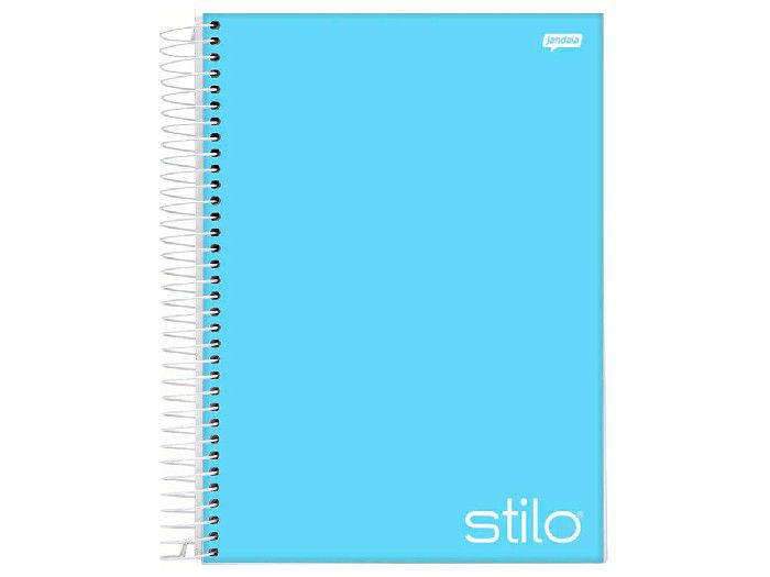 Caderno Espiral 10x1 Stilo Azul 200 Fls. Pct. C/ 4 Unidades - Jandaia - 6539877