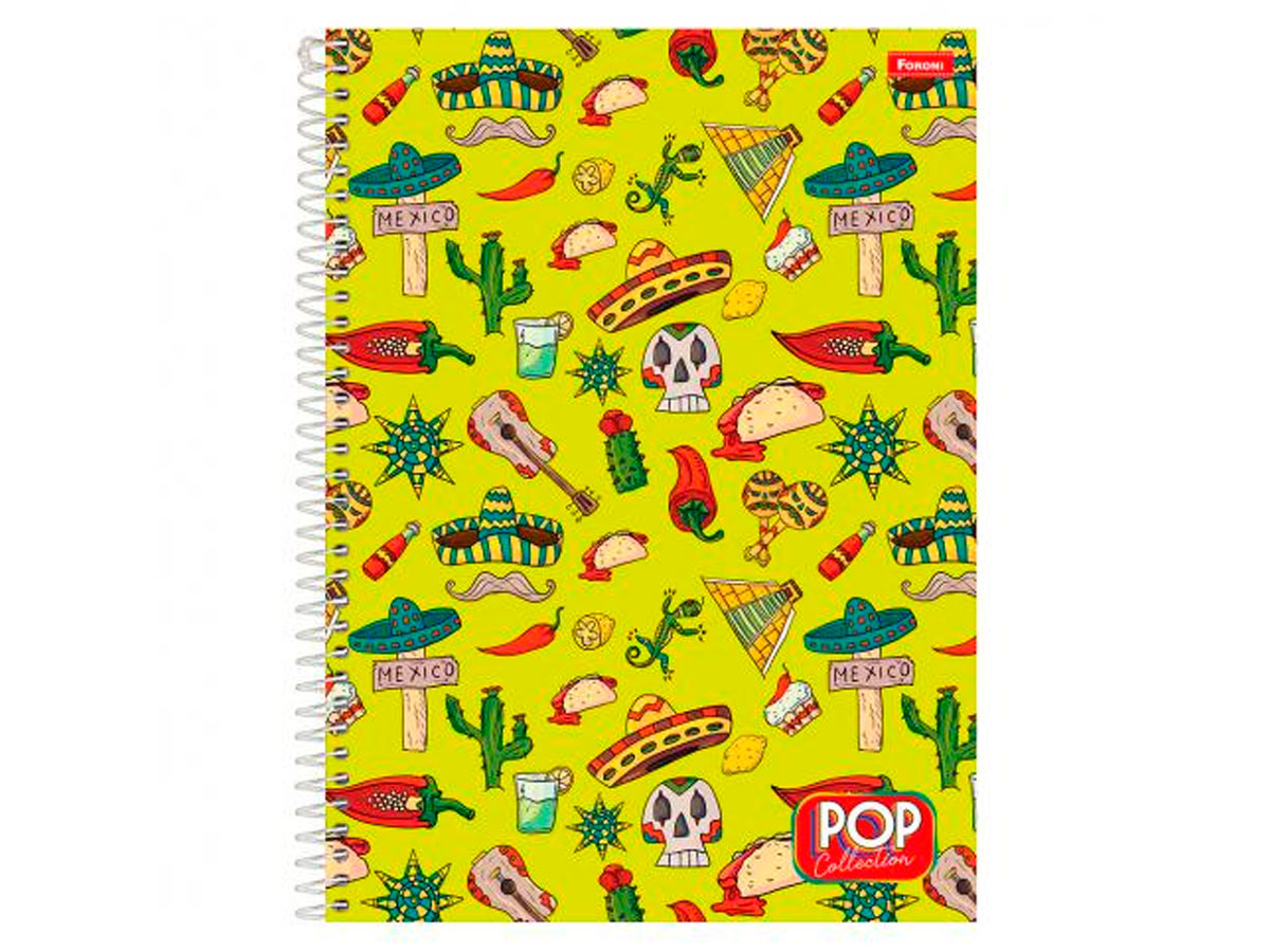 Caderno Espiral 15x1 Capa Dura Pop Collection, 300 Fls. Pct. C/2 Unidades - Foroni