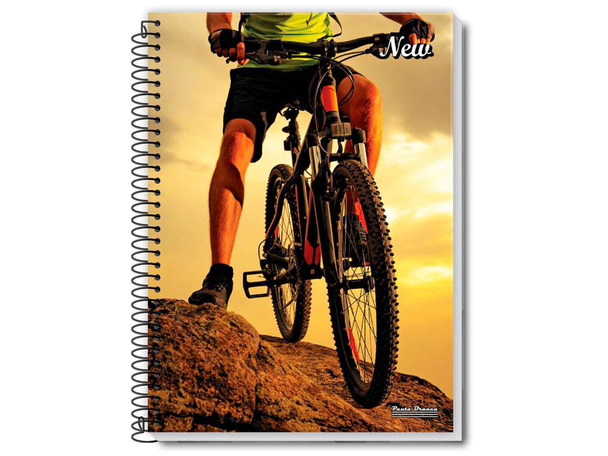 Caderno Espiral 15x1 New 300 Fls. Pct. C/ 2 Unidades - Pauta Branca