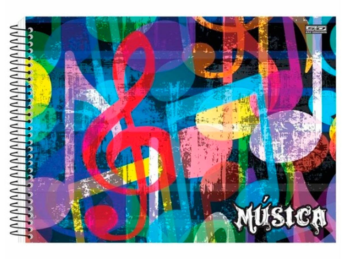 Caderno Espiral 1/4 Música, 40 Fls. Pct. C/25 Un. - São Domingos - 4400