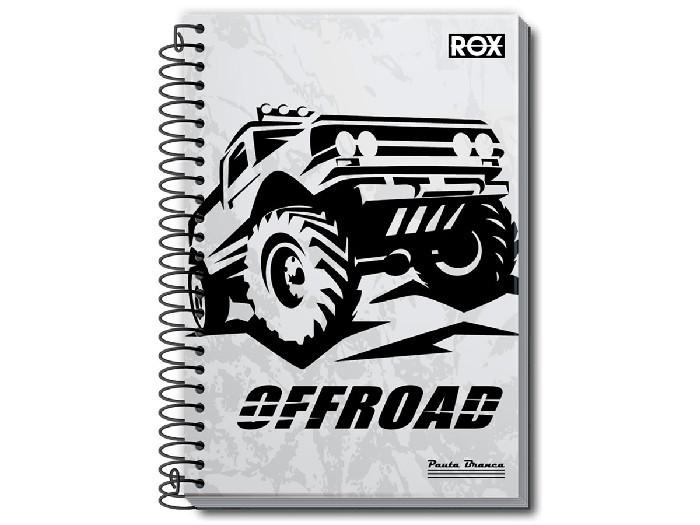 Caderno Espiral 1/8 Capa Dura Rox 80 Fls. Pct. C/ 20 Unidades - Pauta Branca