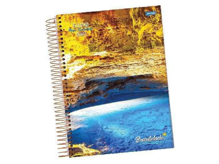 Caderno Espiral 1 x 1 Brasilidade Capa Dura, Contém 96 Folhas, Jandaia - 0813677