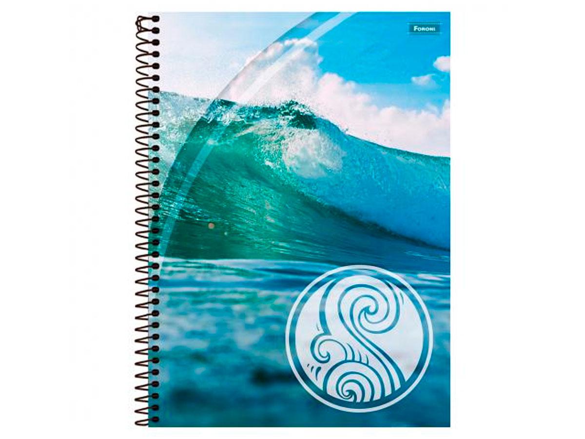Caderno Espiral 1x1 Capa Dura 4 Elementos, 96 Fls. Pct. C/4 Unidades - Foroni