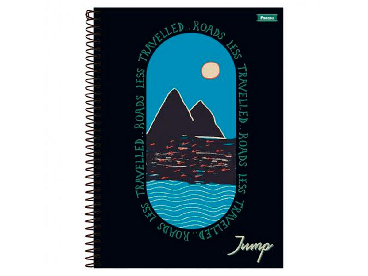 Caderno Espiral 1x1 Capa Dura Jump, 96 Fls. Pct. C/4 Unidades - Foroni
