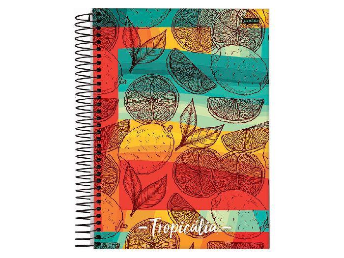 Caderno Espiral 1x1 Capa Dura Tropicalia 96 Fls. Pct. C/ 4 Unidades - Jandaia - 6361119