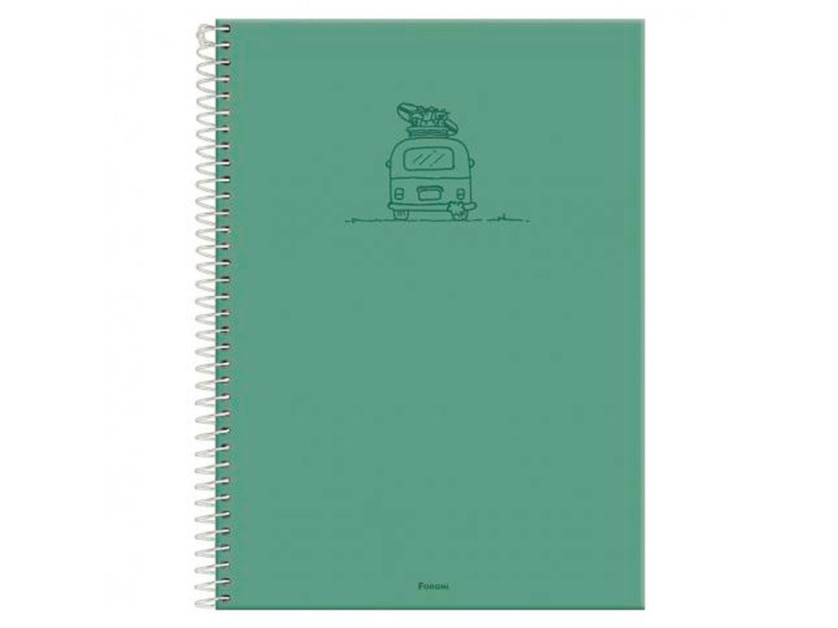 Caderno Espiral 1x1 Capa Dura Versatile, 96 Fls. Pct. C/4 Unidades - Foroni