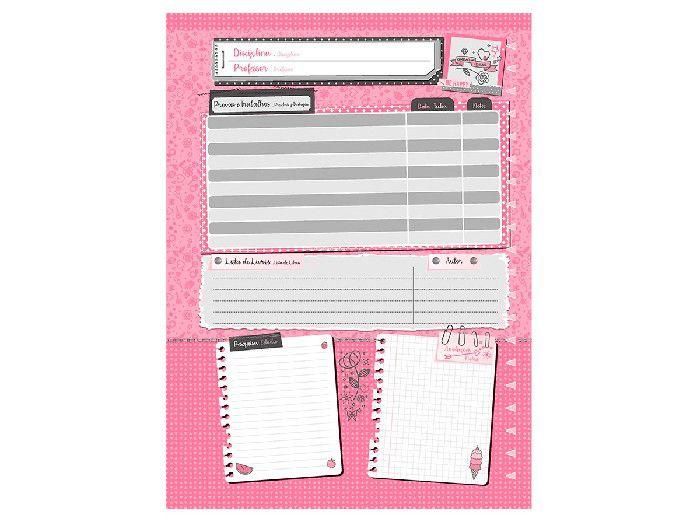 Caderno Espiral 1x1 It Girl 96 Fls. Pct. C/ 4 Unidades - Jandaia - 5939220