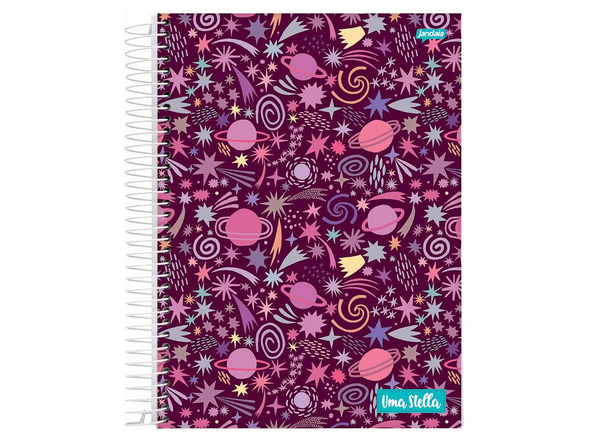 Caderno Espiral 1x1 Stella 80 Fls. Pct. C/ 4 Unidades - Jandaia - 6542477