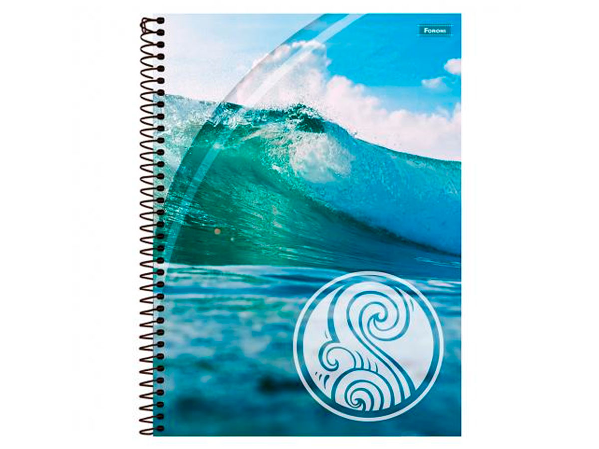 Caderno Espiral 20x1 Capa Dura 4 Elementos, 400 Fls. Pct. C/2 Unidades - Foroni