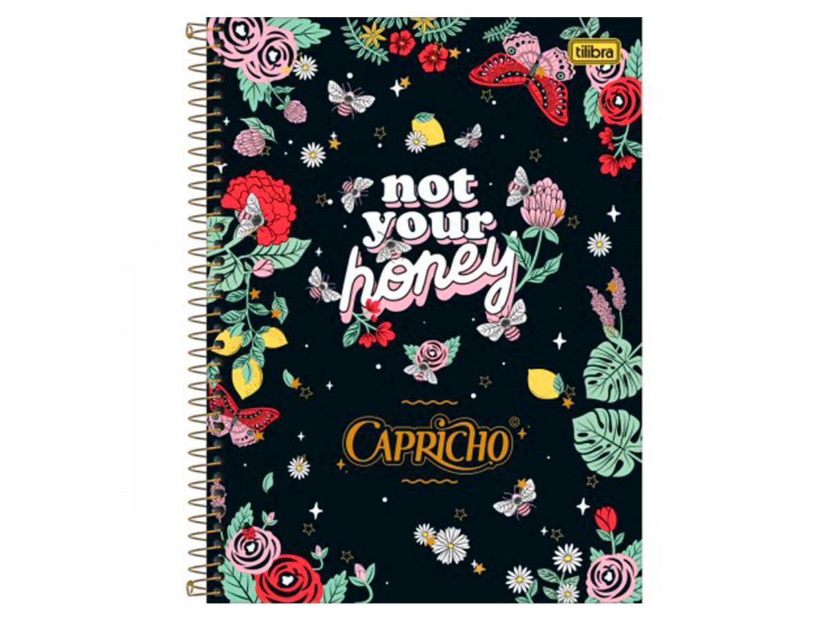 Caderno Espiral C.D. 10x1 Capricho, 160 Fls. Pct c/ 4 Unidades - Tilibra - 308463