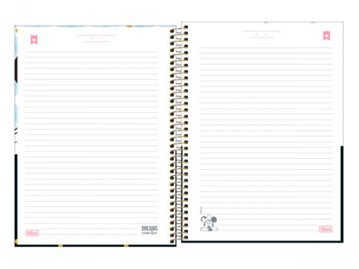 Caderno Espiral C.D. 10x1 Minnie, 160 Fls. Pct. C/ 4 Unidades - Tilibra - 308099