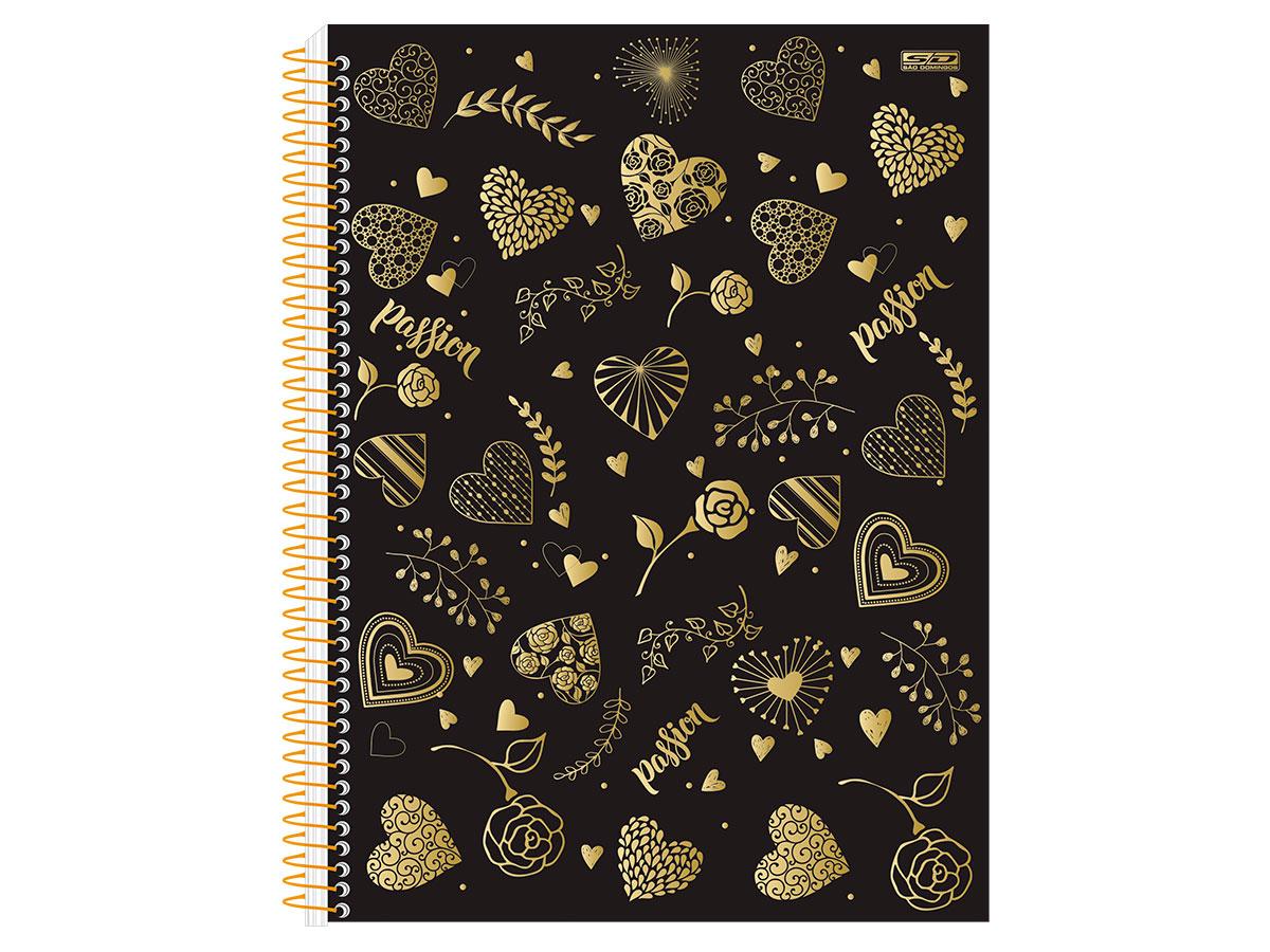 Caderno Espiral C.D. 10x1 Passion, 200 fls. Pct. c/ 4 un. - São Domingos - 3606