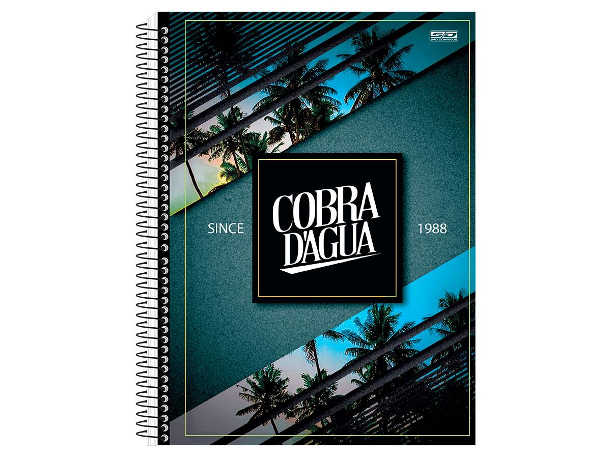 Caderno Espiral C.D. 15x1 Cobra D'Água, 300 Fls. Pct. C/ 2 Un. - São Domingos - 3584