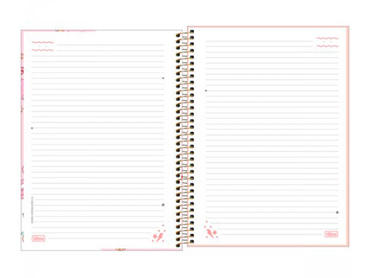 Caderno Espiral C.D. 1x1 Capricho, 80 Fls. Pct. C/ 4 Unidades - Tilibra - 308455