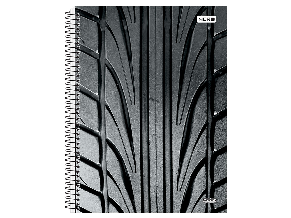 Caderno Espiral C.D. 1x1 Nero, 96 fls. Pct. c/ 4 Un. - São Domingos - 3902