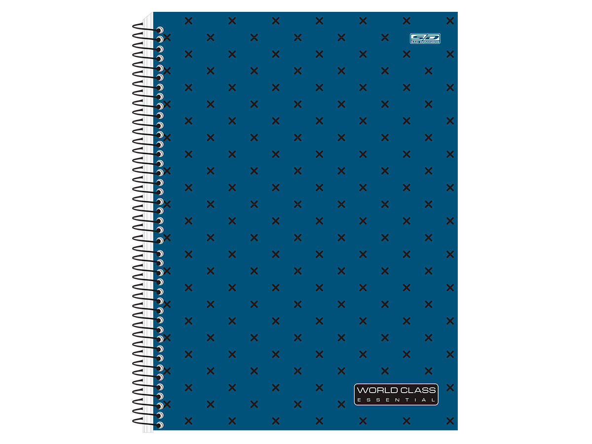 Caderno Espiral C.D. 1x1 World Class, 96 Fls. Pct. C/ 4 Un. - São Domingos - 4337