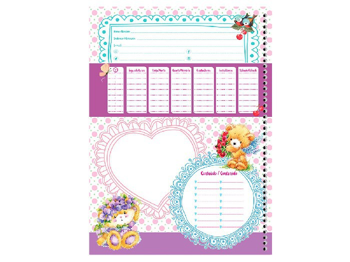 Caderno Espiral C.D. 20x1 My Friend, 400 fls. Pct. C/ 2 Un. - São Domingos - 4396