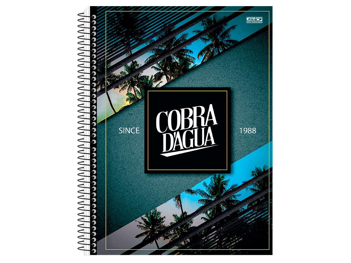 Caderno Espiral C.D. Cobra D'Água 10x1, Pct. c/ 4 Un. - São Domingos - 3542