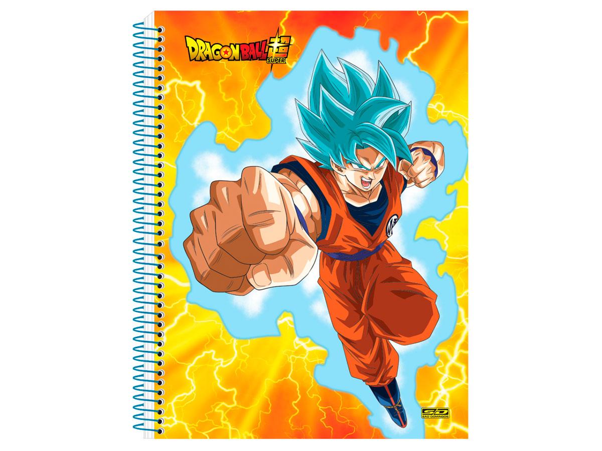 Caderno Espiral C.D. Dragon Ball 10x1, 200 Fls. Pct. C/ 4 Un. - São Domingos - 4317