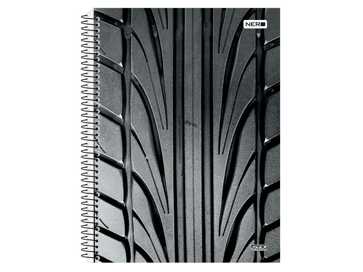Caderno Espiral C.D. Nero 10x1, 200 Fls. Pct. C/ 4 Un. - São Domingos - 3903