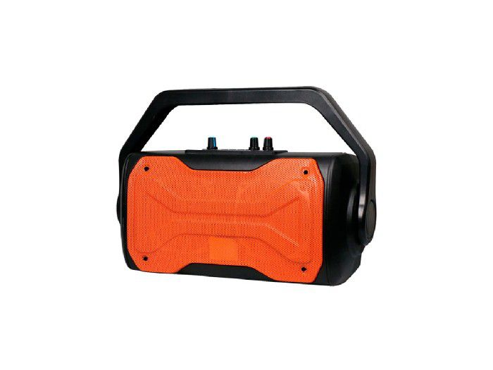 Caixa de Som Bluetooth Oex Fuss 60W Rms C/Radio Fm Preto/Laranja SK409