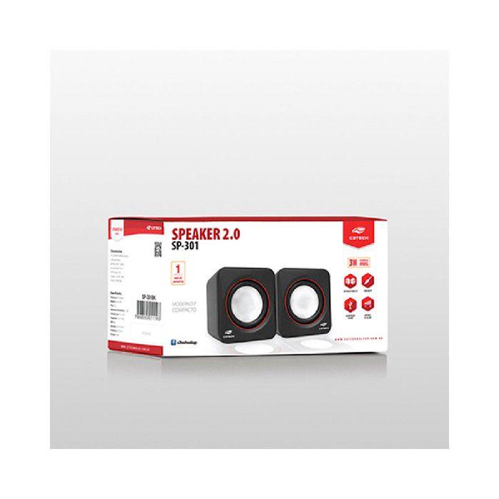 Caixa de Som C3tech 2.0 Sp-301bk
