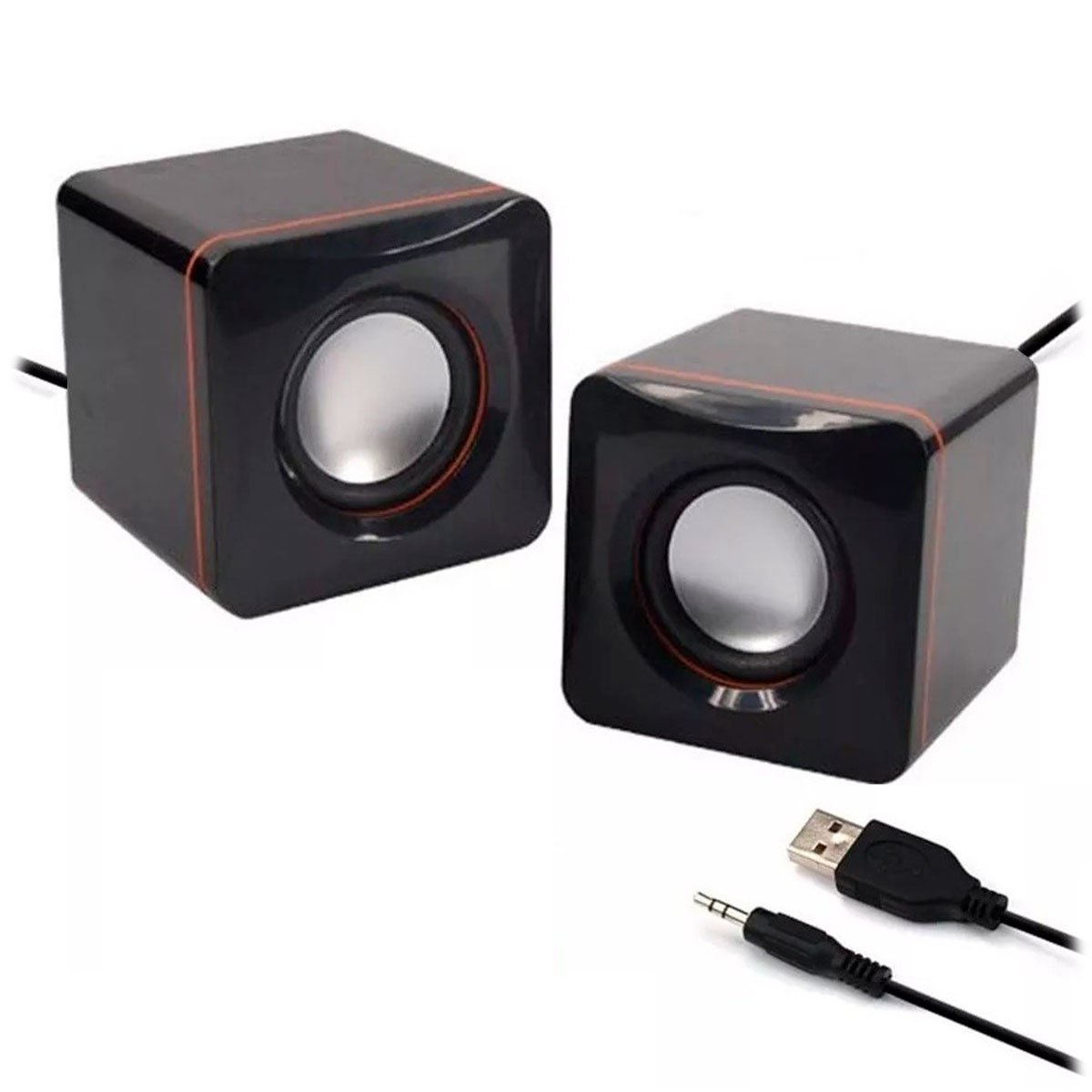 Caixa de Som Mini GV Brasil PRF.448 G-101C - USB 2.0, 2.5W RMS