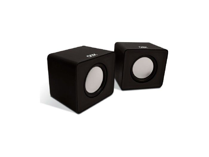 Caixa de Som Mini Oex Cube Preto 3W Rms SK102