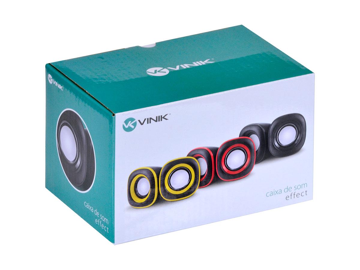 Caixa de Som Vinik 2.0 EFFECT Vermelho 29689