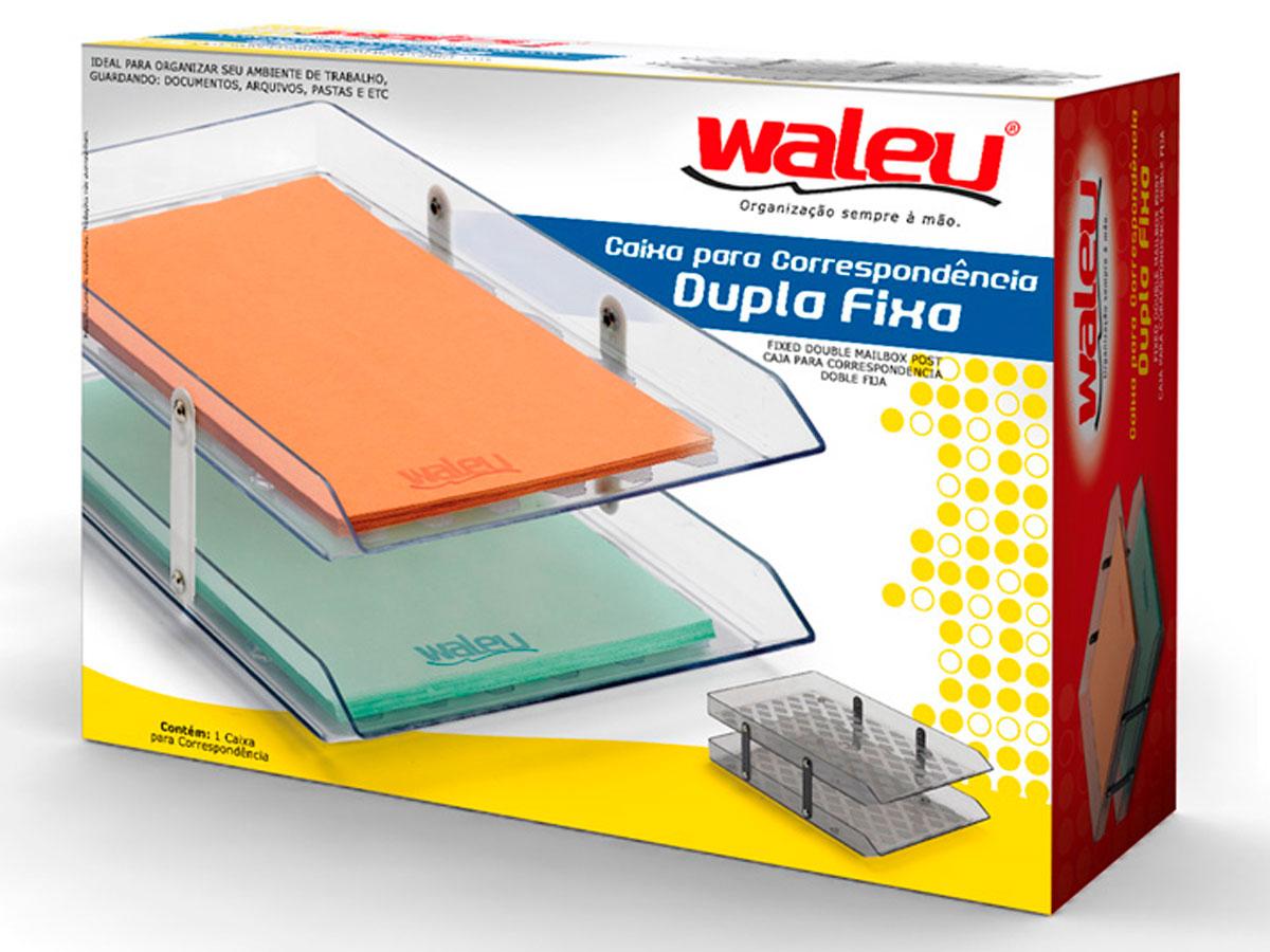 Caixa para Correspondência Dupla Fixa, Waleu - Fumê - 10050007