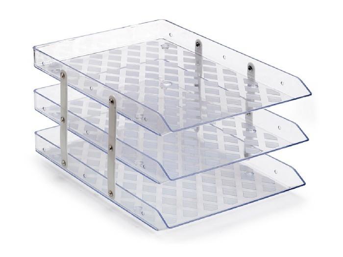 Caixa para Correspondência Tripla Fixa, Waleu - Cristal - 10050015