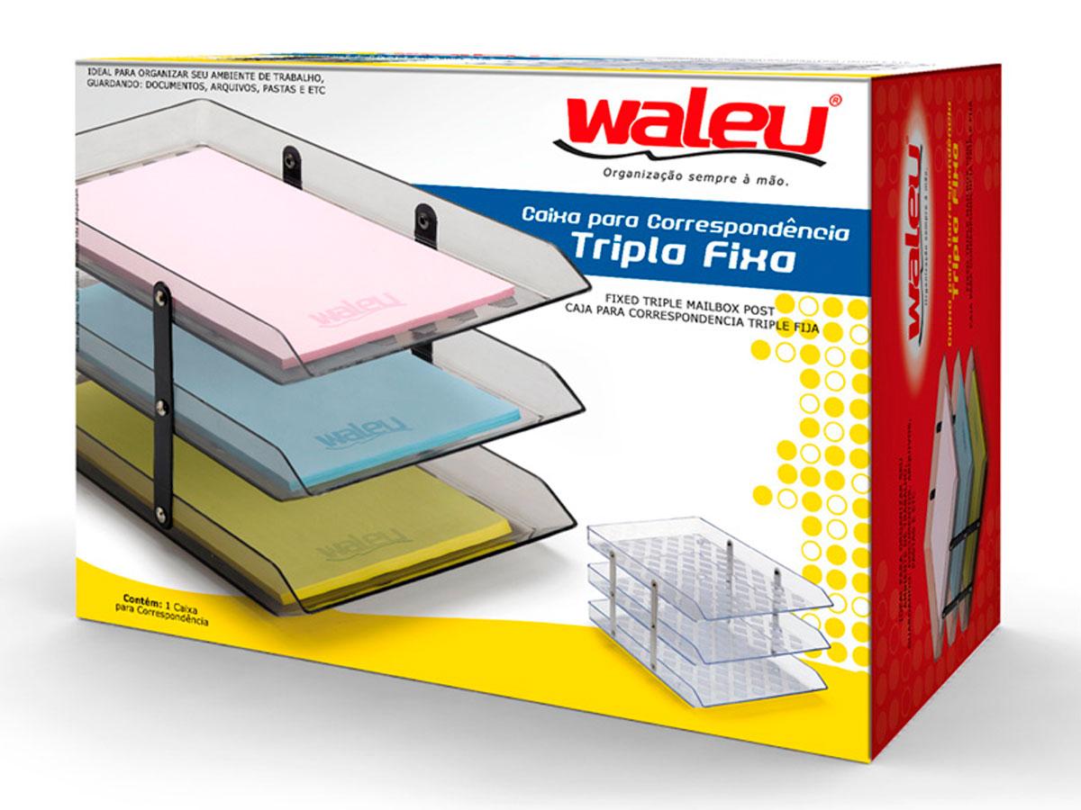 Caixa para Correspondência Tripla Fixa, Waleu - Fumê - 10050016