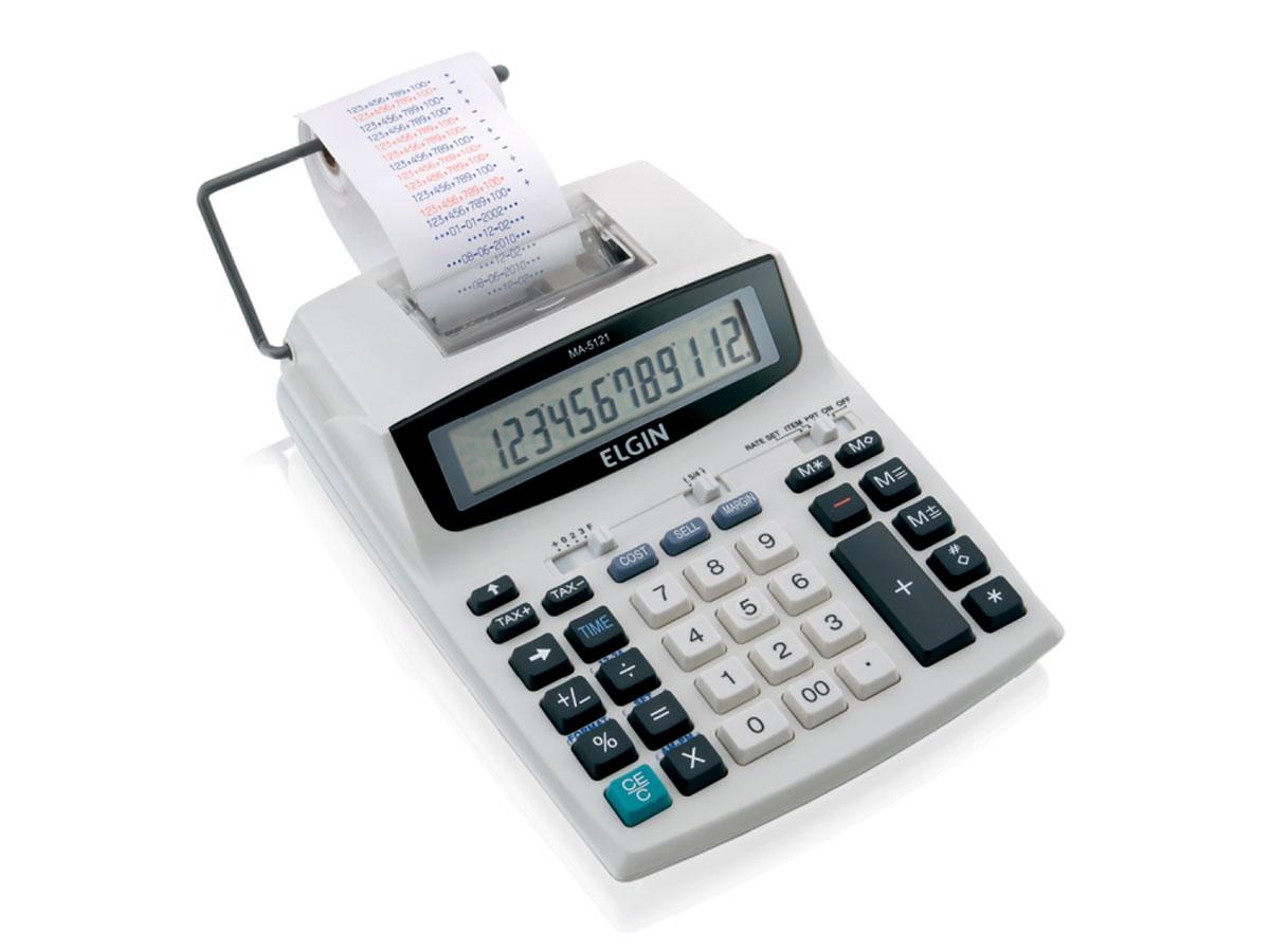 Calculadora Com Bobina MA-5121, 12 Dígitos e Impressão Bicolor, Elgin - 42MA51210000