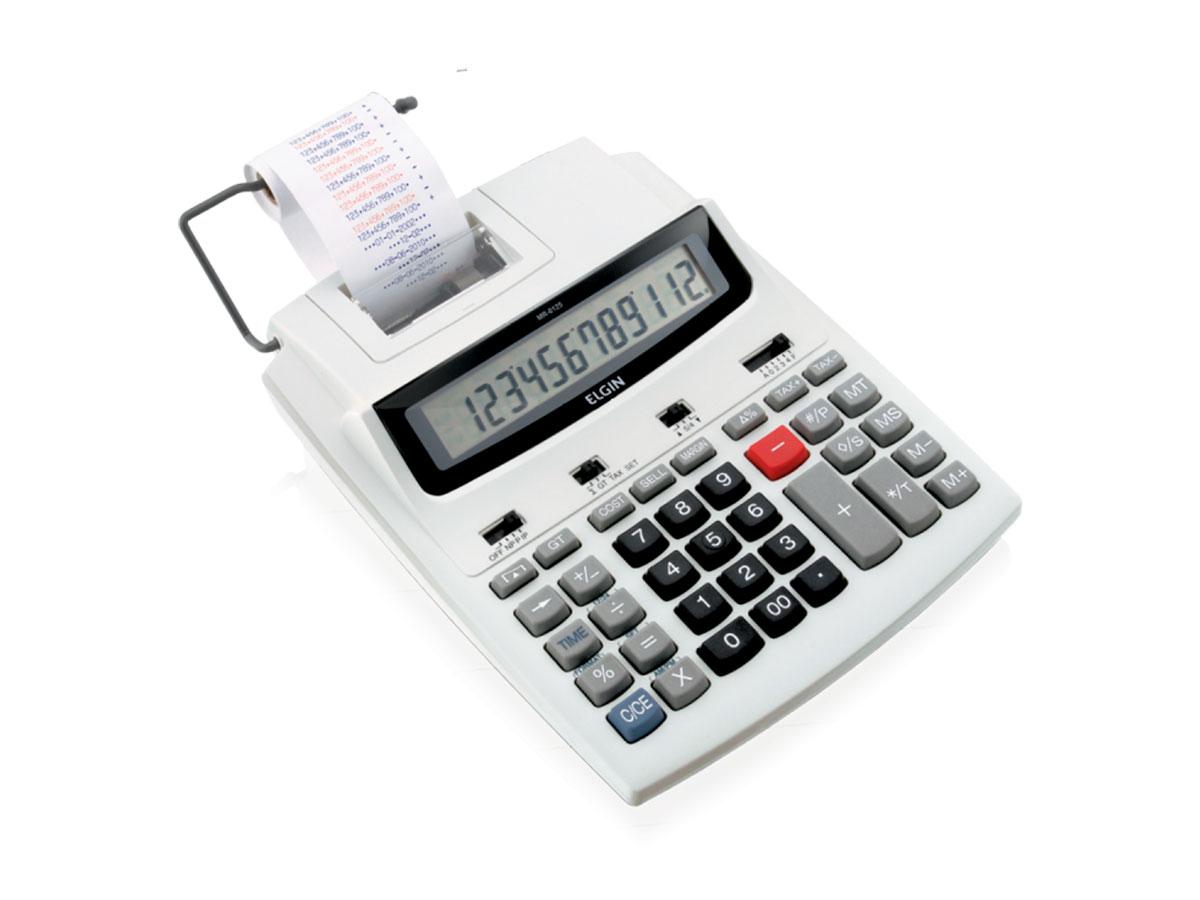 Calculadora Com Bobina MR-6125, 12 Dígitos, Impressão Bicolor e Display LCD - Elgin - 42MR61250000