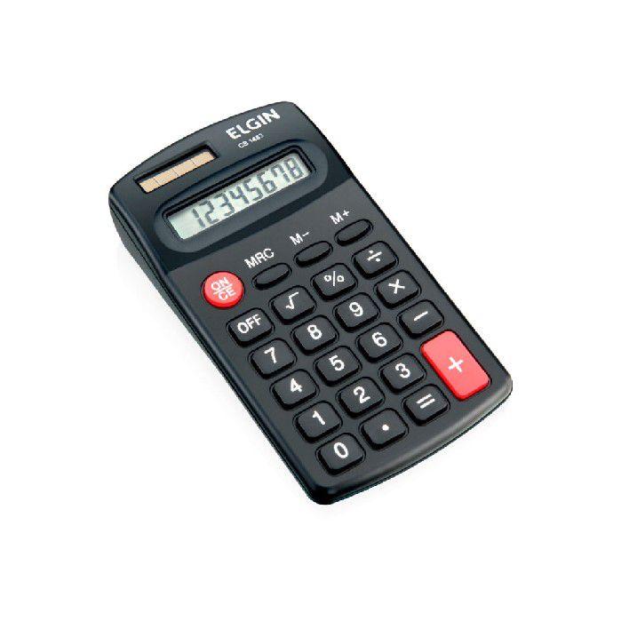 Calculadora de Bolso Elgin 8 Digitos Solar/ Bateria