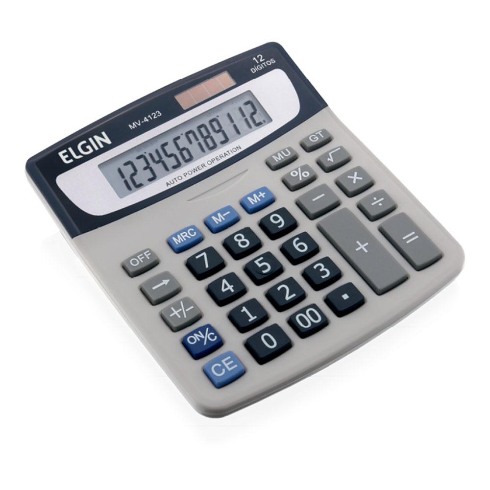 Calculadora de Mesa Com Visor, 12 Dígitos, Solar / Bateria, Caixa, Elgin - 42MV41230000