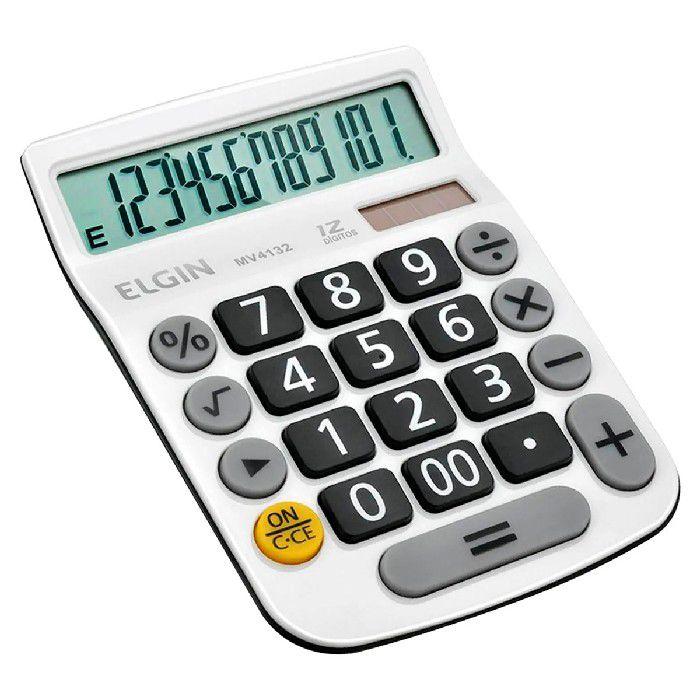 Calculadora de Mesa Elgin MV4132 12 dígitos Visor LCD Branca - 42MV41320000