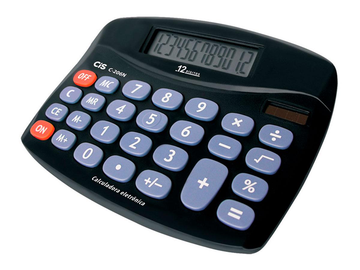 Calculadora Eletrônica C206N, 12 dígitos, Cis - 4028100