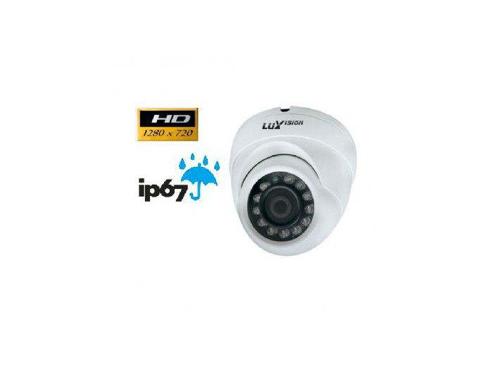 Camera Luxvision Dome Ecd 1mp 1/4 2.8mm 20m Ip7 LVC5280D3N