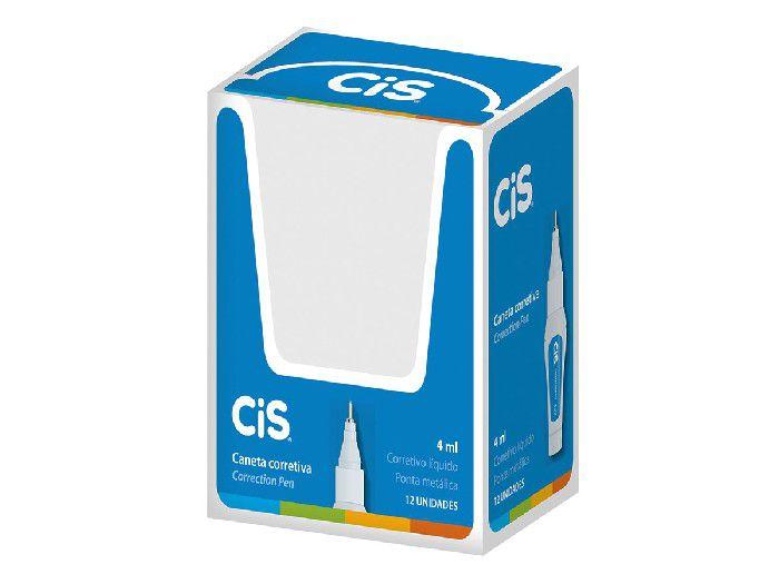 Caneta Corretivo 4 ml, Caixa Com 12 Unidades, Cis - 435800