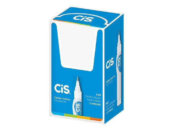 Caneta Corretivo 9 ml, Caixa Com 12 Unidades, Cis - 433100