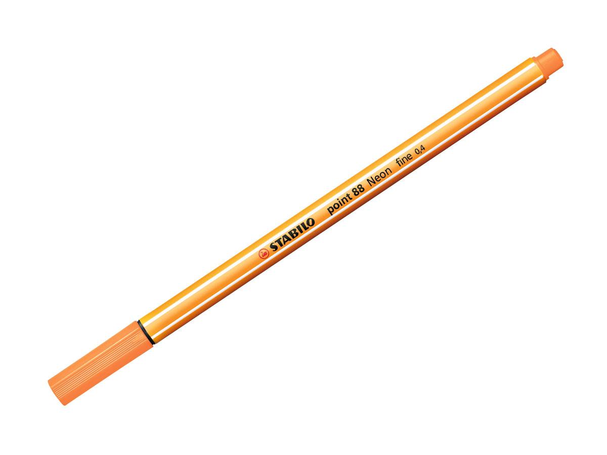 Caneta Hidrográfica Point 88, Caixa Com 10 Unidades, Stabilo - Laranja Neon - 469500