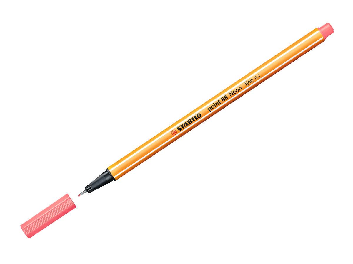 Caneta Hidrográfica Point 88, Caixa Com 10 Unidades, Stabilo - Rosa Neon - 469600