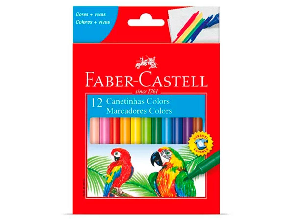 Caneta Hidrográfica Prestocolor 12 Cores, Pct. c/ 12 Caixinhas - Faber-Castell - 150112CZF